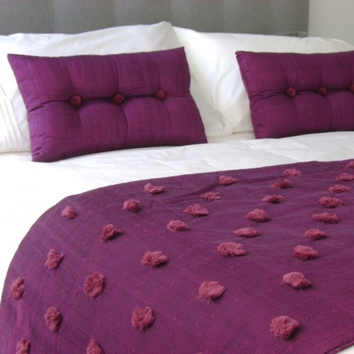 Tufted Bed Runner - Aubergine